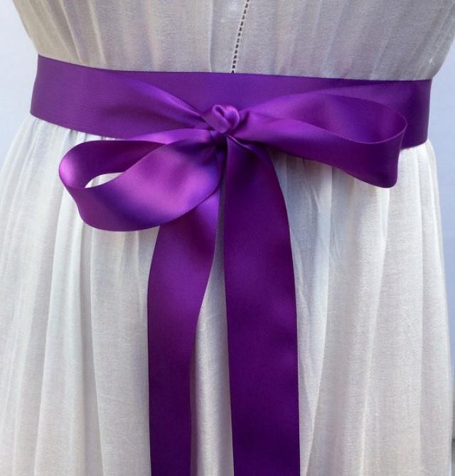 wedding photo - Double Face Satin Ribbon Sash, 1.5 Inch Wide, Bridal Sash Prom Dress Sash Wedding Belt, Bridesmaids Sash More Colors & Sizes Available