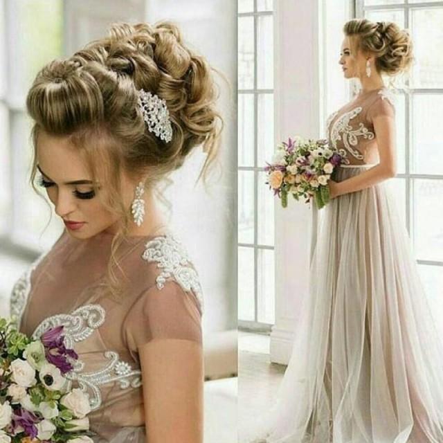 aeff96af52ddd5 Stylish A-line Wedding Dress - Jewel Cap Sleeves Floor-Length With Beading  #2664180 - Weddbook