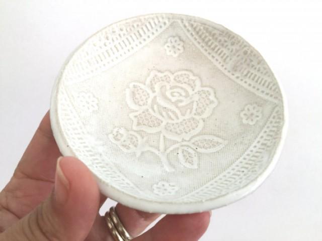 wedding photo - White wedding ring holder, Ring holder, Wedding gift, Engagement gift,Wedding ring dish,Bridal shower gift, White ceramic