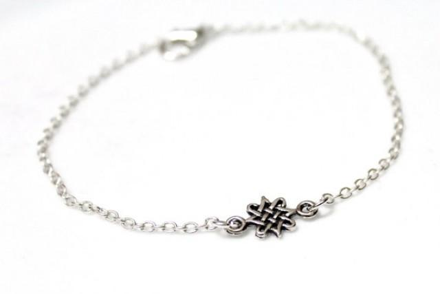 wedding photo - Celtic Knot Sterling Silver, Celtic Bracelet, Bridesmaid Jewelry, Knot Jewelry, Celtic Knot Jewelry, Silver Knot Bracelet