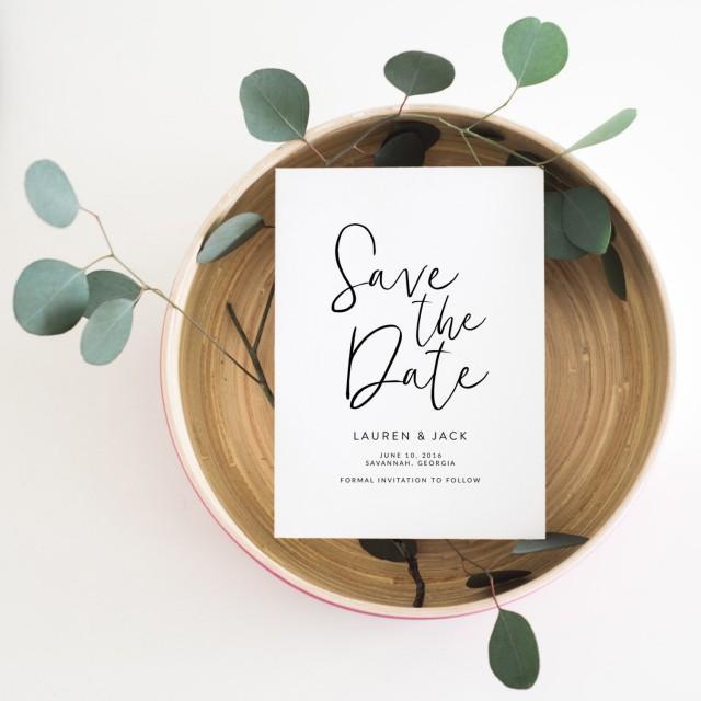 wedding photo - Printable Save the Date