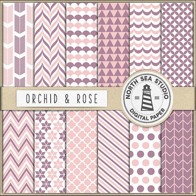 wedding photo - Orchid And Pink Digital Paper Pack