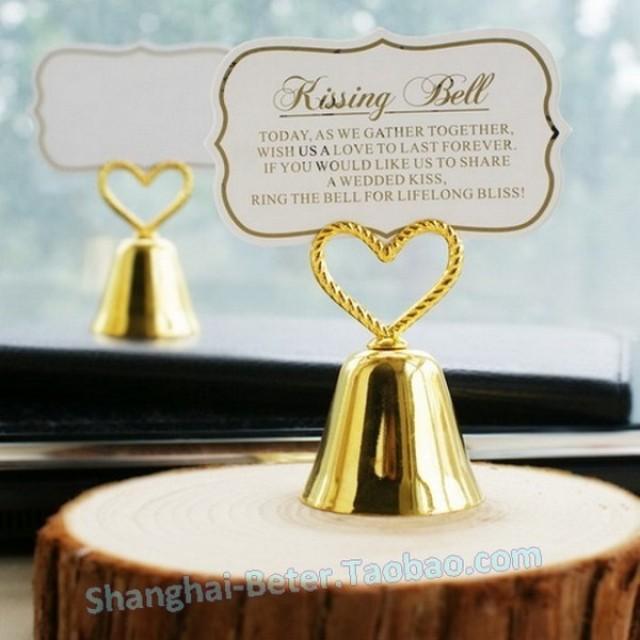 wedding photo - Beter Gifts®  春季佈置Decor金婚心形鈴鐺席位卡WJ071/B單身派對俱樂部餐桌桌卡