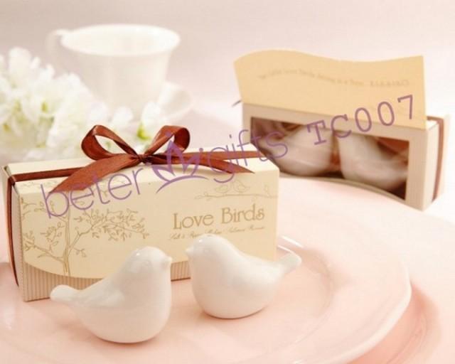 wedding photo - Beter Gifts®歐式浪漫婚禮小物TC007創意新娘小禮物結婚愛情鳥調味瓶 胡椒瓶beterwedding