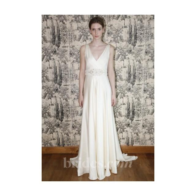 Temperley london 2013 madison sleeveless silk satin a for Temperley wedding dress sale
