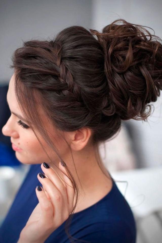 Причёска собранные волосы