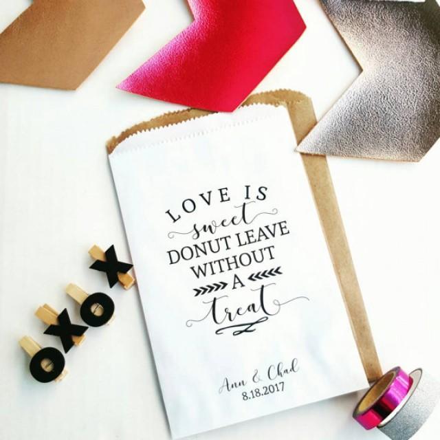 wedding photo - Wedding Favor Bags - Donut Favor Bags - Bridal Shower Favors - Treat Bags - Graduation Favors