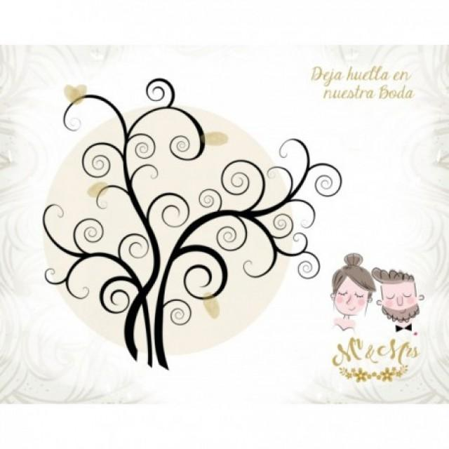 wedding photo - Arbol de huellas para Bodas