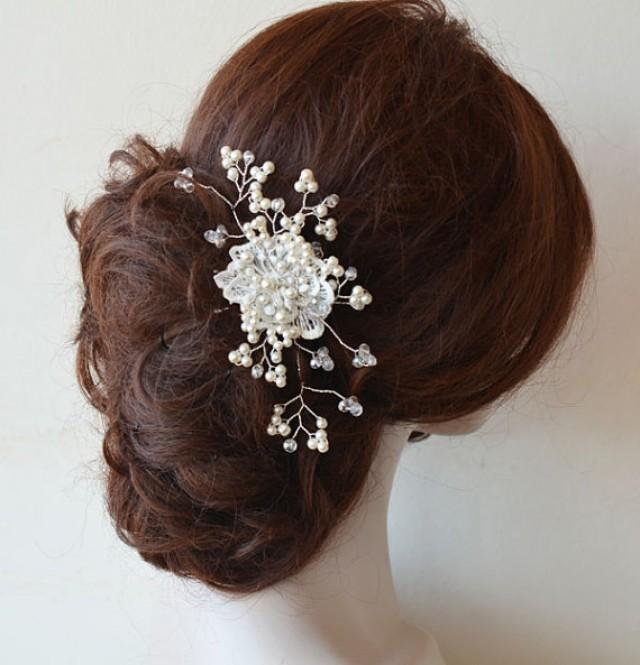 wedding photo - Bridal Hair Comb, Wedding Pearl Comb, Wedding headpiece, Pearl Hair Comb, Bridal Hair Accessories