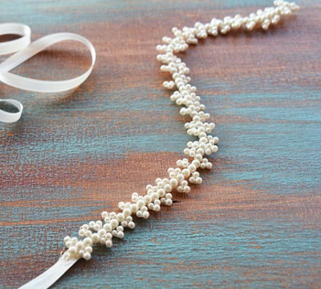 wedding photo - Wedding Belt, Bridal Sash Belt, Pearl Wedding Belt, wedding dress belt, Bridal Sash Pearl, Sash for Wedding Dress