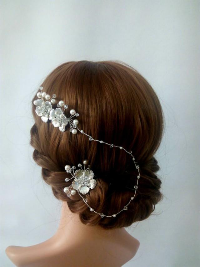 wedding photo - Bridal Hair Vine, Bridal Hair Comb, Wedding hair Vine, Bridal Headband, Bridal hair Chain, Bridal Headpiece Bridal Hair Piece, hair Accesory