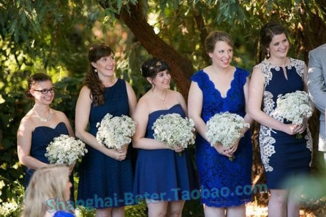 wedding photo - Beter Gifts® 滿天星幹花小花束特價雲南干花真花拍攝倍樂禮品彩色滿天星HH116