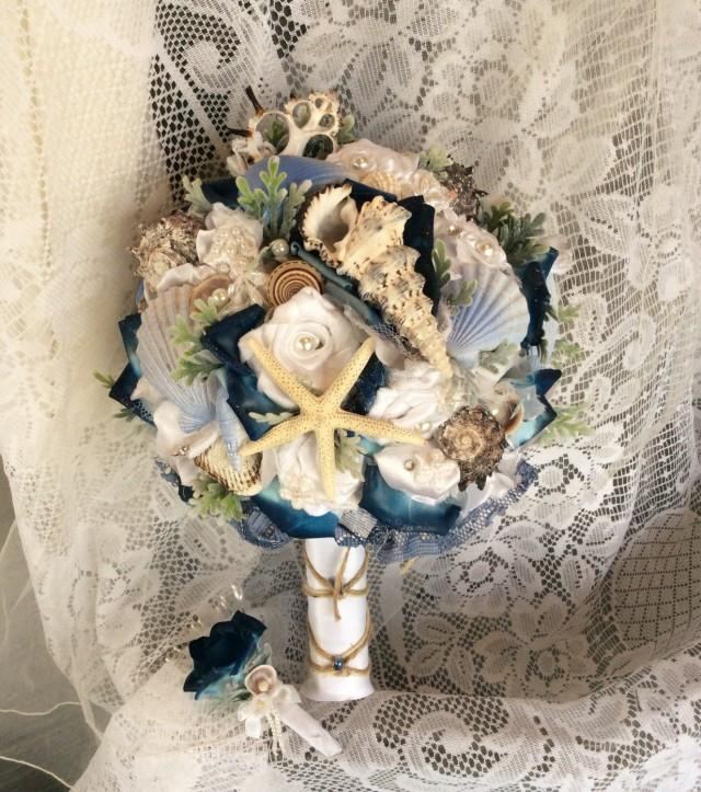 Beach Wedding Bouquet Beach Wedding Flowers Blue White