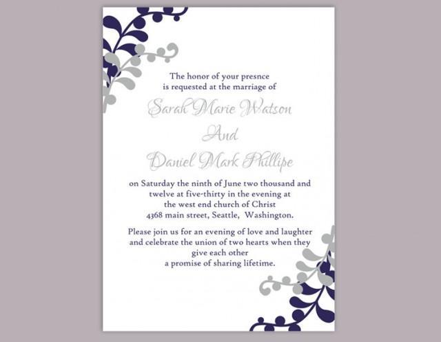 Wedding Invitation Template Download Printable Invitations – Editable Leaf Template