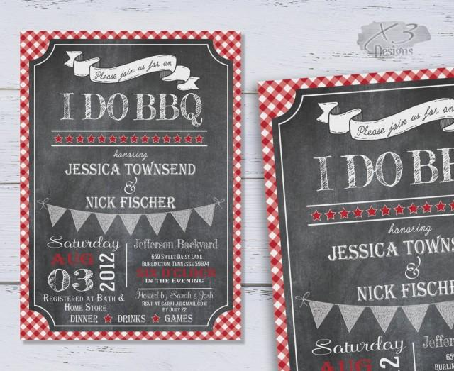 wedding photo - I Do BBQ Invitations, DIY Rustic Couples Wedding Shower Invites, Chalkboard Bridal Shower Invitation, Printable Fall Rehearsal Dinner Invite