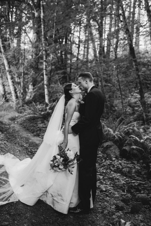 wedding photo - Dramatic Forest Wedding in Oregon Photographed by Christy Cassano-Meyers