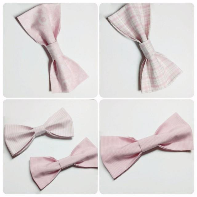 wedding photo - blush bow ties wedding bow ties pink bow tie pale pink bow tie floral bow tie checkered bow tie old pink bow tie groom's tie groomsmen hjfrd - $9.05 USD