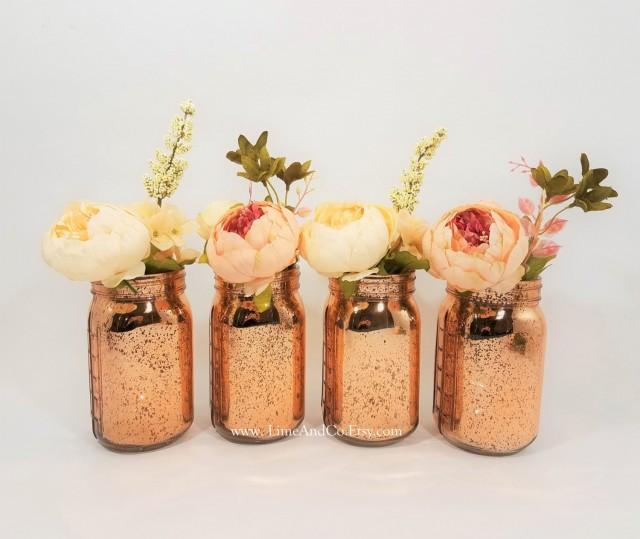 Mercury Glass Vase Wedding Decor Bridal Shower Decorations