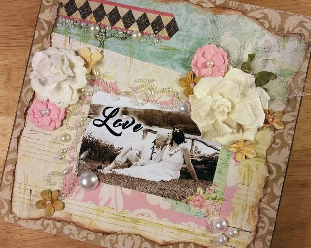 wedding photo - Keepsake Box, Photo Collage Box, Personal Collage Keepsake Box, Photo Collage, Personal Photos, Customized Photo Box, Photo Box - $60.00 USD