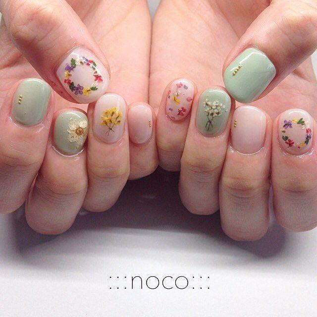 ":::nail Room Noco::: On Instagram: ""お花イロイロ…"""