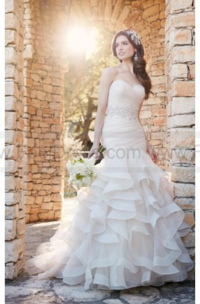 wedding photo - Essense of Australia Ruffled Wedding Dress With Ruched Bodice Style D2155