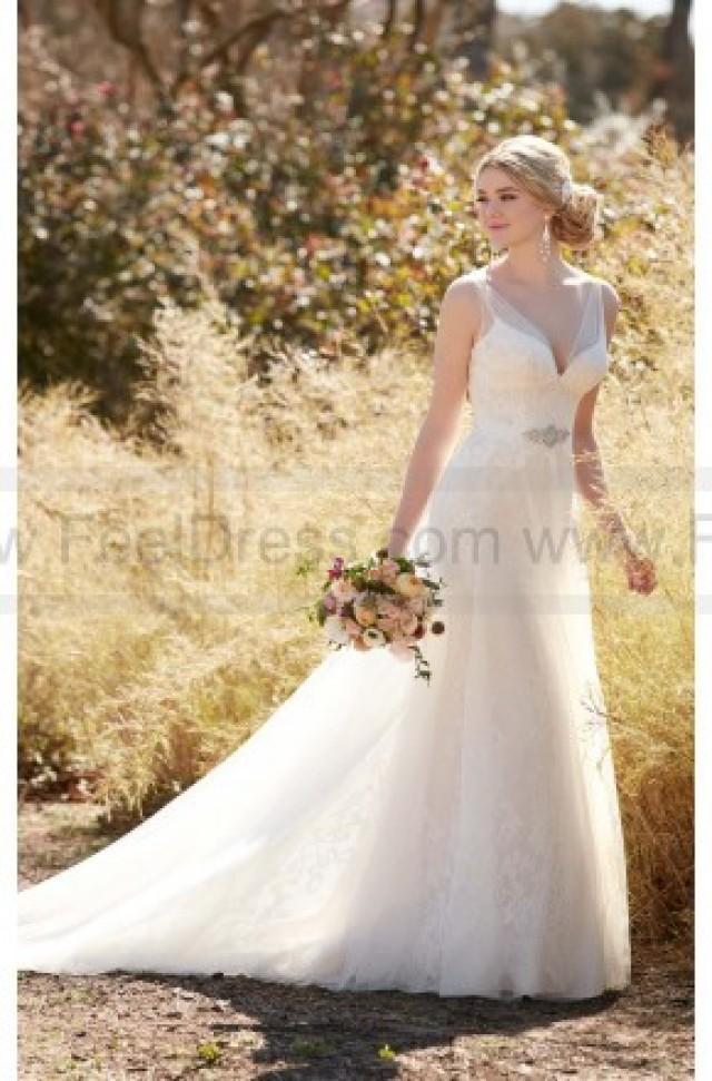 wedding photo - Essense of Australia Tulle Wedding Dress With Diamante Beading Style D2120