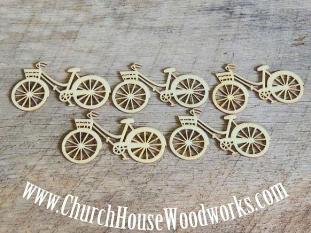 wedding photo - Wooden Bicycle Die Cut Pack of 25