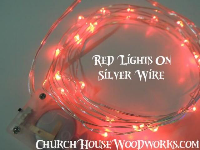wedding photo - Red Battery Fairy Lights LED Battery Operated Rustic Wedding Lights Bedroom Lights