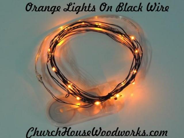 wedding photo - Orange Battery Fairy Lights LED Battery Operated Rustic Wedding Lights Bedroom Lights