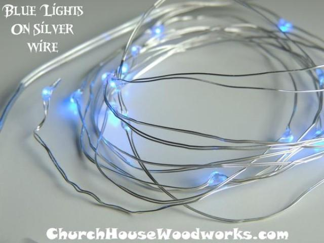 wedding photo - Blue Battery Fairy Lights LED Battery Operated Rustic Wedding Lights Bedroom Lights