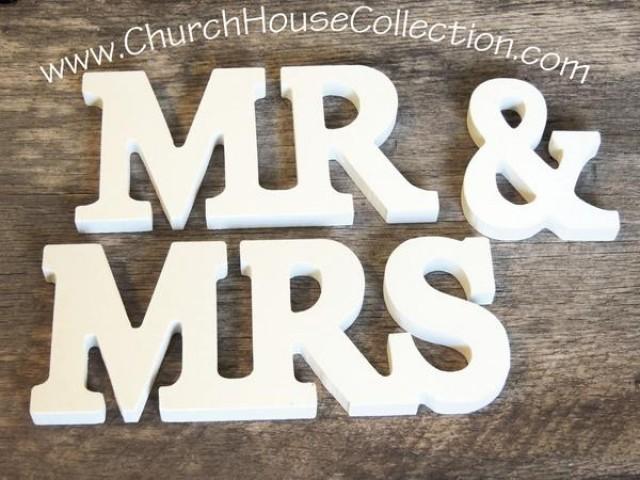wedding photo - MR. & MRS Wood Signs