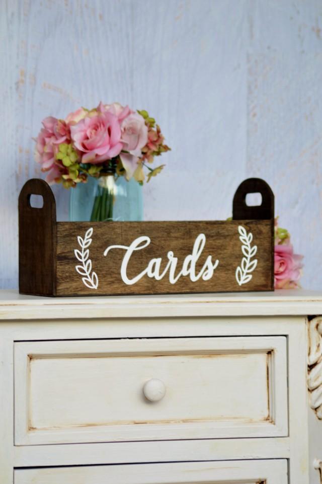Modern wedding card box rustic card holder woodland for Wedding mailbox decorating ideas