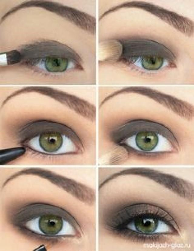 Как делать макияж глаз зеленых