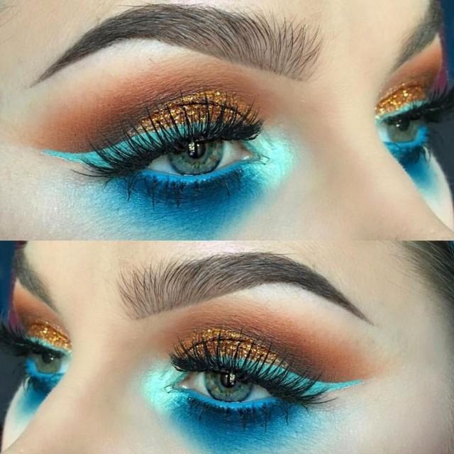 "CINEMA SECRETS On Instagram: ""Our Electric Blue Eyeshadow Put To #flawless Use By The Talented @alyssamarieartistry.  Tag Us In Your #cinemasecrets #makeup Looks For A…"""