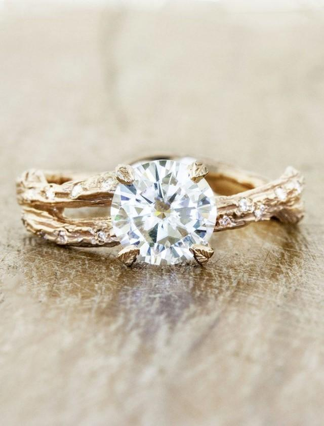 Stunning Lab Created Diamonds from Ken & Dana Design - MODwedding