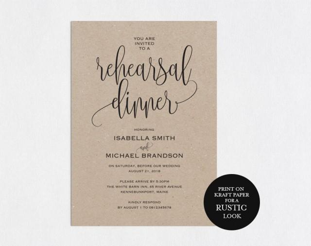 Rehearsal Dinner invitation template, rehearsal printable, modern, invitation templates, wedding rehearsal, pdf instant download, WPC_70