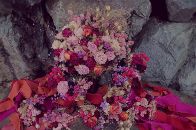 dried flower bouquet, wheat bouquet, pink and orange bouquet, orange bouquet, rustic bouquet, autumn bouquet, peach bouquet, seedpod bouquet