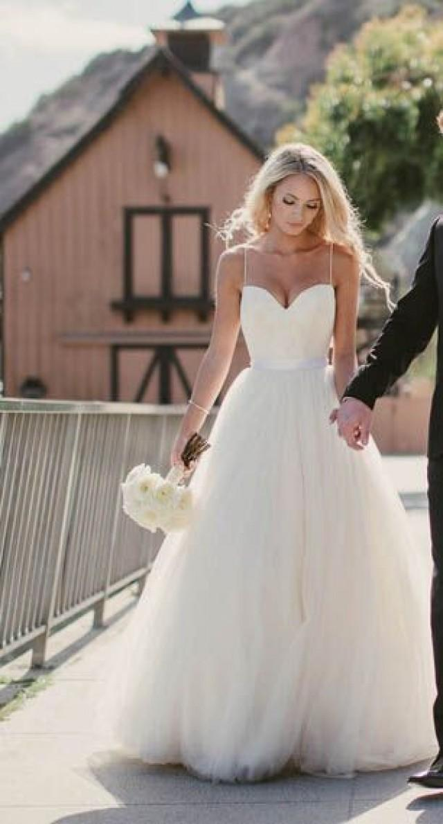 Beautiful Wedding Dress,Spaghetti Straps Wedding Dresses,A-line Wedding Dress,Simple Wedding Dresses,Charming Wedding Dress,PD00198