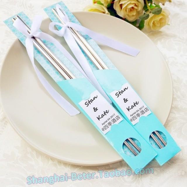 wedding photo - DIY Bridal Wedding Favors BETER-WJ054 Chinese Chopsticks keepsakes