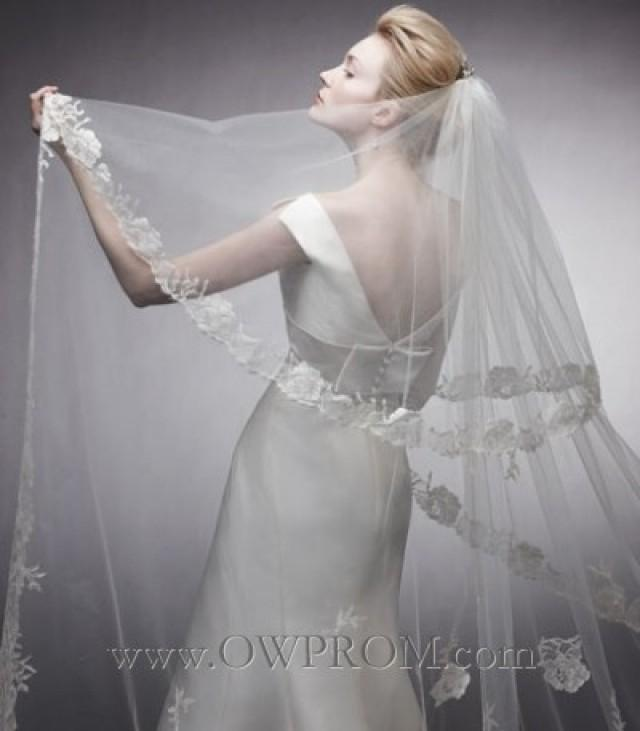 wedding photo - Peter Langner Pepita Veil Wedding Veils - OWPROM.com