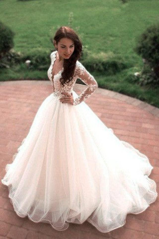 Vintage boho summer wedding dresses princess tulle lace for Wedding dresses with tulle skirts