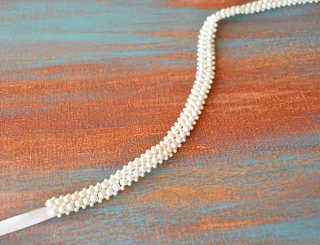 wedding photo - Bridal Belt, Sash Belt, Wedding Dress Belt, Pearl Bridal Belt, Bridal Sash Belt, Bridal Sash, Wedding Sash, Wedding Accessories - $74.00 USD