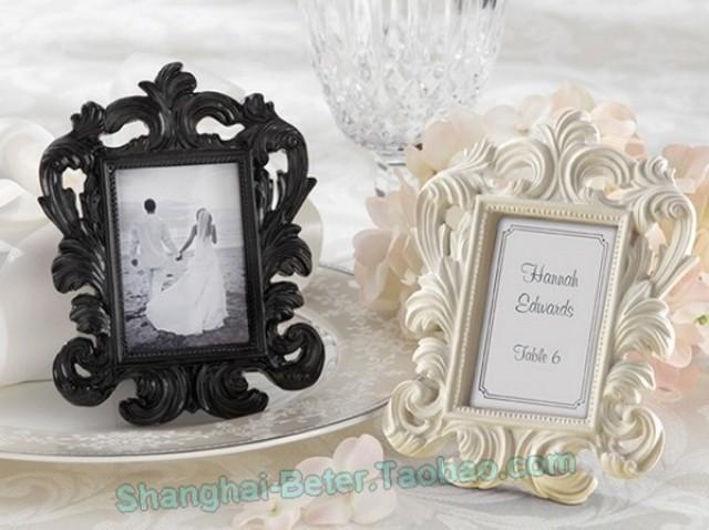wedding photo - Beter Gifts® 白色巴洛克相框decor歐式婚禮用品婚慶用品 BETER-SZ041/A宴會餐桌佈置 beterwedding