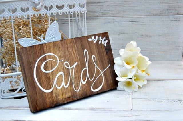 wedding photo - Cartel de madera boda tarjetas, Letrero boda caligrafía, Señal madera boda rústica, boda jardín, decoración madera boda.