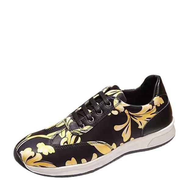 wedding photo - Versace Barocco Men's Leather Sneakers