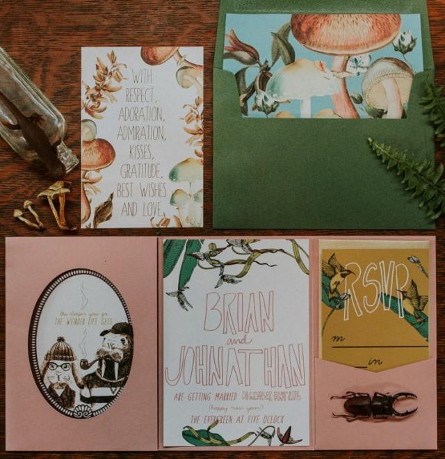 269c7bba65c9 Wes Anderson-Inspired Wedding Shoot With Fancy Beard Gents - Weddingomania