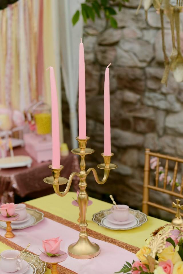 wedding photo - Gold Wedding Candle Candelabras 3 arm Shabby Candle Holder Party Candle Holder Birthday Candle Holder - $25.00 USD