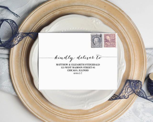 Envelope Template, Wedding Envelope Template, Stationery Envelope Template, Editable Stationery, RSVP Envelope, Wedding Invitations, WSET2