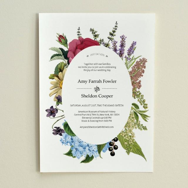 DIY Wedding Invitation - Vintage Floral - Printable PDF Template - Instant Download