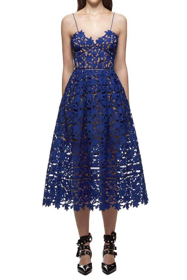 wedding photo - Self Portrait Azaelea Dress Cobalt